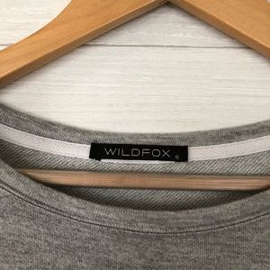 Wildfox Sweaters - Wildfox Dogs are People Too Gray Long Top 336